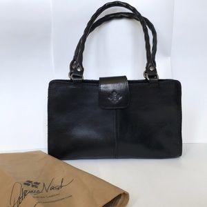 Black leather Patricia Nash bag